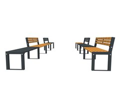 FalcoAcero external seats and add-on benches