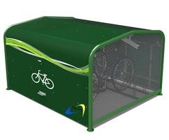 Secure on-street cycle locker