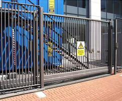 Automatic cantilever sliding security gates