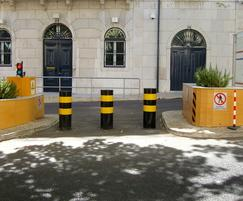 Security bollards crash tested to PAS 68 standard
