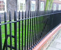 Forged Head railings for parks, play areas and housing