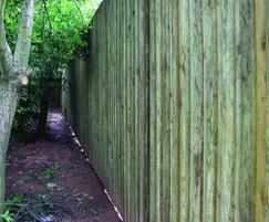 Acoustic barrier posts for panel based noise barrier