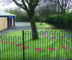 Bow top fencing for playgrounds, schools & public areas
