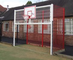 TwinSports fencing on basketball court