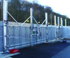Stronguard™ swing gates, palisade with security tops