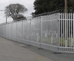PALISADE high security fencing at MOD site