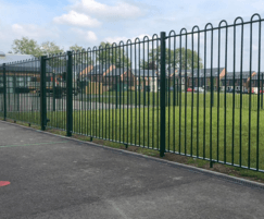 PlaySafe-BT bow top playground fencing