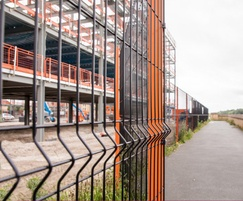 VGuard - rigid panel mesh fencing with v Beam