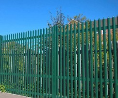 High security palisade fencing for railway line