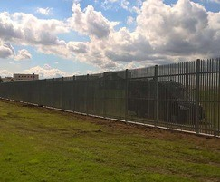 High-security palisade fencing - water treatment works