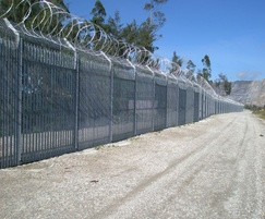 High-security perimeter fencing for remote mine
