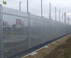 High-security fencing for utilities site