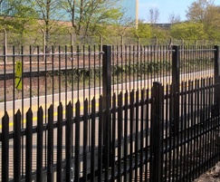 StronGuard™RCS75 steel palisade fencing