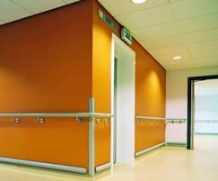 Acrovyn® HR6S handrail on s/steel brackets