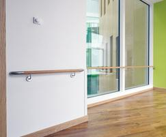 Acrovyn® HRWS6C timber handrail
