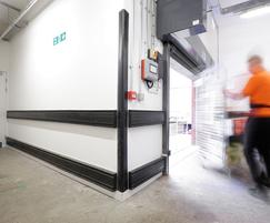 Crashrail and heavy-duty rubber corner guards