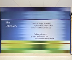Acrovyn by Design mural at Bristol Royal Infirmary