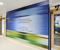 Long lasting wall murals in busy hospital corridors