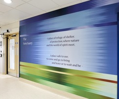 Long lasting murals, ideal for busy hospital corridors