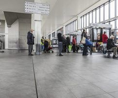 Expansion joint covers installed in busy transport hub