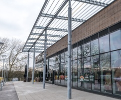 CS Airfoil Solar Shading at Ely Leisure Centre