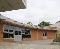 CS Airfoil Solar Shading at St. Piers School