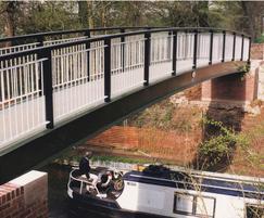 Steel beam canal bridge at Dickens Heath