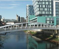 Bespoke steel bridge, Sheffield