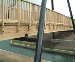 Dowel laminated bridge with A-frame, Leicester Council