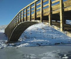 Stress laminated bridge, Pennine Way, Houseman & Falsha