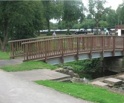 Steel and timber bridge, Canch Park