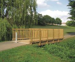 FSC hardwood cycle bridge for Darlington City Council