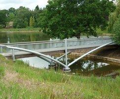 Bespoke steel bridge at Queens Park, Crewe