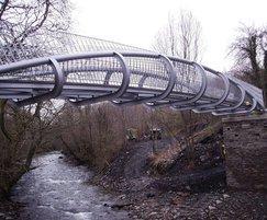Bespoke steel bridge, Caerphilly, Wales