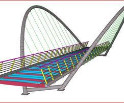 Bespoke butterfly arch bridge visualisation