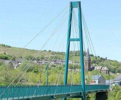 151x2.5m cable stay bridge, Ebbw Vale