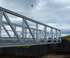 13.5 x 1.2m FRP bridge - Earlsburn Reservoir, Stirling