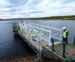 FRP bridge Earlsburn Reservoir