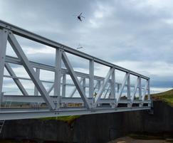 13.5 x 1.2m FRP bridge Earlsburn Reservoir, Stirling