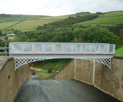 Bespoke steel bridge, Holme