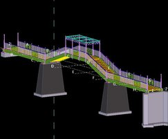 CTS drawing of Chinese footbridge