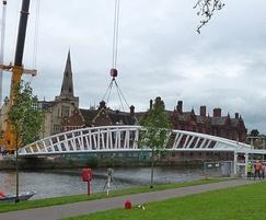 Installation of footbridge