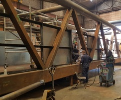 Trial bridge assembly at CTS factory
