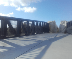 4 sections of bridge site welded together