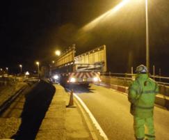 Bridge delivered on articulated extender