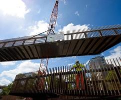 16.5m bridge installation at R. Lee, Bow