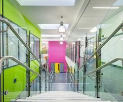 Park Brow School Mono glass HiMet handrail