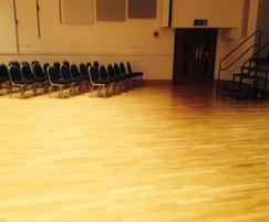 Repaired dance floor