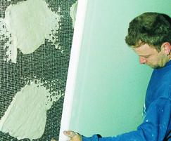 Dry lining can be fixed via adhesive plaster dabs