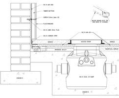 Technical drawing showing MS500 on the walls
